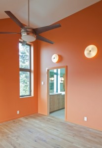 interior color - orange walls